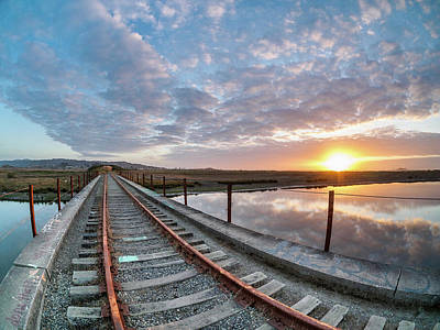 Photograph - Railroad Bridge Over Elk River 2 by Greg Nyquist