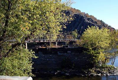 Railroad Bridge Over The Potomac Art Print by Rebecca Smith