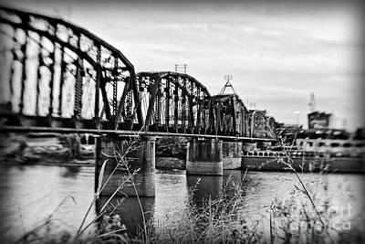 Photograph - Railroad Bridge -bw by Scott Pellegrin