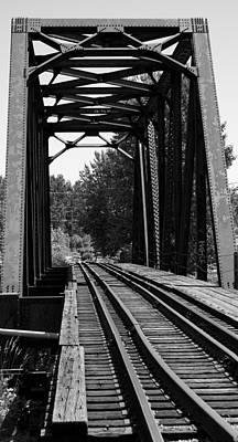 Railroad Bridge Art Print by Sonja Anderson