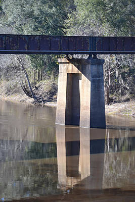 Photograph - Railroad Bridge Structure Over The Suwanee River by rd Erickson
