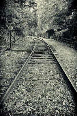 Photograph - Railroad Bw Series Y5377 by Carlos Diaz