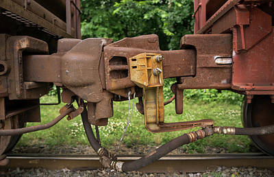 Photograph - Railroad Car Coupling by Phil Cardamone
