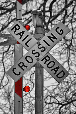 Photograph - Railroad Crossing by Debby Richards