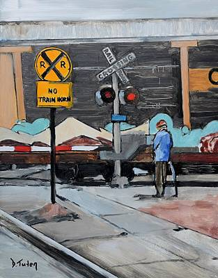 Painting - Railroad Crossing by Donna Tuten