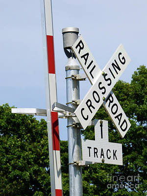 Photograph - Railroad Crossing by Leara Nicole Morris-Clark