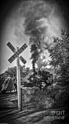 Photograph - Railroad Crossing by Mitch Shindelbower