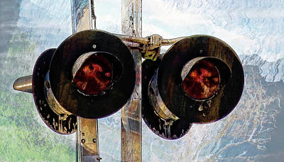 Photograph - Railroad Crossing Signal by HH Photography of Florida