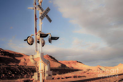 Railroad Crossing Tint Art Print by Vance Fox