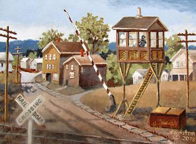 Painting - Railroad Crossing by Tony Caviston