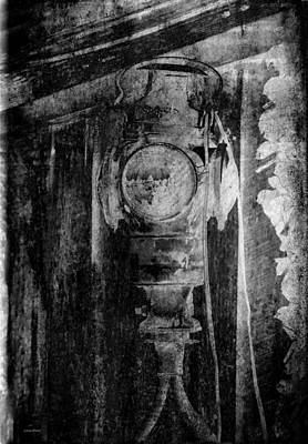 Photograph - Railroad Lantern Abstract Art Bw by Lesa Fine