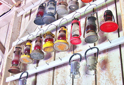 Photograph - Railroad Lanterns by Marilyn Diaz