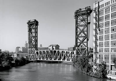 Photograph - Railroad Lift Bridge - Chicago River by Daniel Hagerman