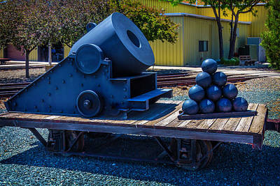 Wagon Train Photograph - Railroad Mortar by Garry Gay