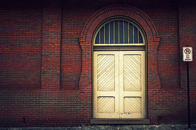 Photograph - Railroad Museum Door by Joseph Skompski