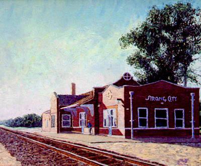 Railroad Station Art Print by Stan Hamilton
