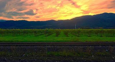 Mars Lasar Photograph - Railroad Sunset by Cadence Spalding