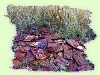 Photograph - Railroad Tie Plates by Will Borden