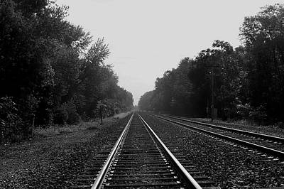 Railroad To Nowhere Art Print by Trish Tritz