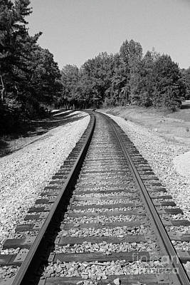 Photograph - Railroad Track by Inspirational Photo Creations Audrey Taylor