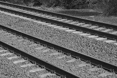 Photograph - Railroad Tracks Bw by Charles HALL