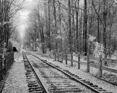 Photograph - Railroad Tracks by Fred Baird