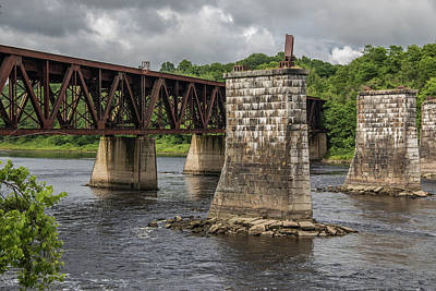 Turbulent Skies Photograph - Railroad Trestle by Laurie Breton