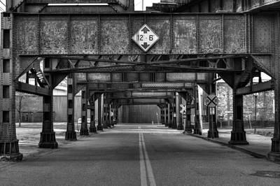 Parkersburg Wv Photograph - Railroad Trestle by Scott Bryan
