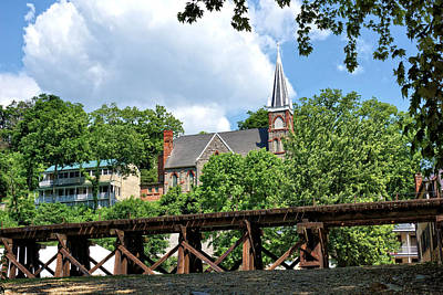Armory Square Photograph - Railroad Trestle Through Harpers Ferry by John Trommer