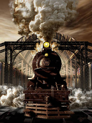Historical Digital Art - Railroad Tycoon by Kurt Miller