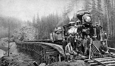 1880s Photograph - Railroad Workers, C1880s by Granger