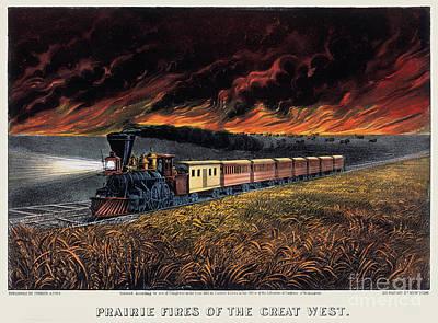 Photograph - Railroading: Prairie Fires by Granger