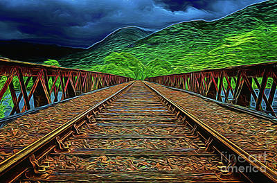 Photograph - Rails On The Mountain 16218 by Ray Shrewsberry