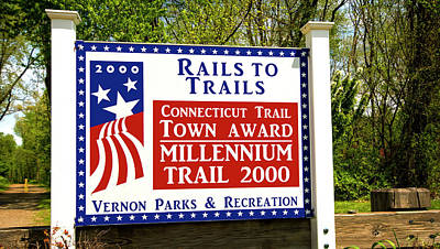 Photograph - Rails To Trails Sign by Phil Cardamone