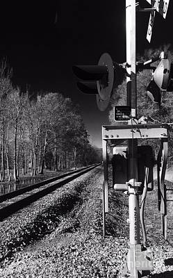 Photograph - Railway 2 Black And White by Robin Lewis