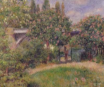 Renoir Painting - Railway Bridge At Chatou by Pierre Auguste Renoir