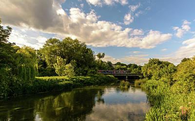 Photograph - Railway Bridge B Crossing River Avon In Bradford-on-avon by Jacek Wojnarowski