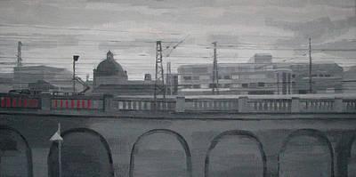 Painting - Railway Bridge. Nuremberg by Lena Krasotina