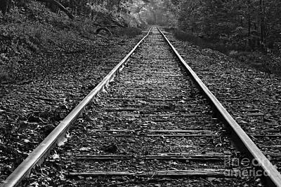Photograph - Railway Bw by Patrick M Lynch