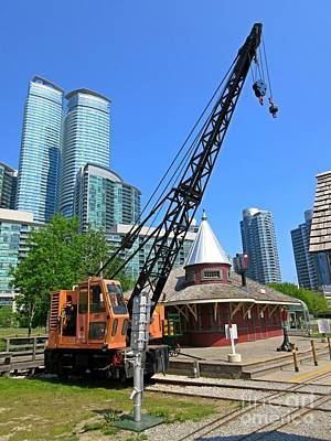 Railway Crane At Roundhouse Park Toronto Art Print