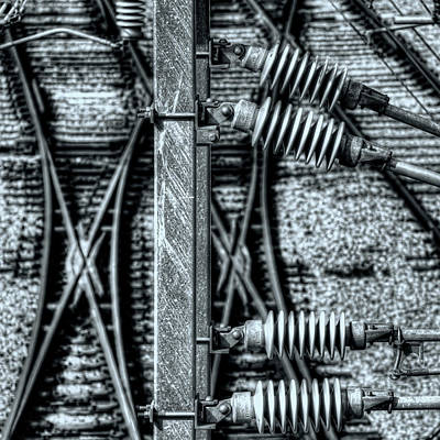 Photograph - Railway Detail by Wayne Sherriff
