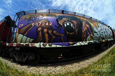 Photograph - Railway Graffiti Genius 2 by Bob Christopher