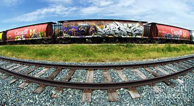 Photograph - Railway Graffiti Genius 4 by Bob Christopher