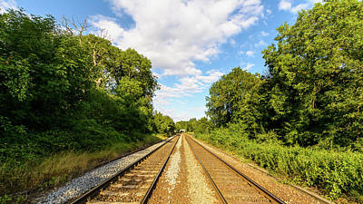 Photograph - Railway In Wiltshire A by Jacek Wojnarowski