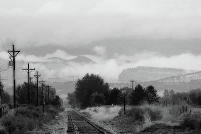 Photograph - Railway Into The Clouds Bw by James BO  Insogna