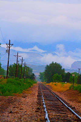 Photograph - Railway Into The Clouds Vertical by James BO  Insogna