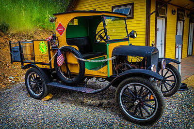 Classic Vehicle Photograph - Railway Maintenance Truck by Garry Gay