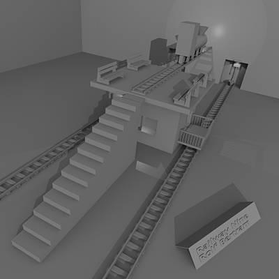 Digital Art - Railway Nine by Rolf Bertram