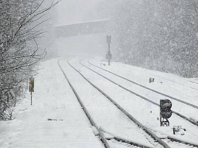 Ballerina Art - Railway Snow by Philip Openshaw