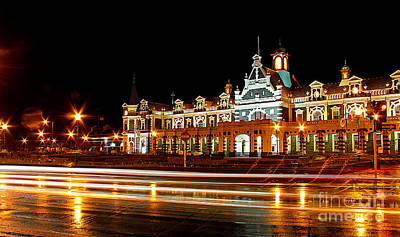 Photograph - Railway Station At Night by Nareeta Martin